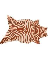 Animal Shaped Area Rugs by Surprise 15 Off The Rug Market Zebra White Melon Shaped Area Rug
