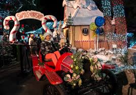 holiday magic festival of lights 2017 there s santa snow and more at six flags magic mountain as holiday