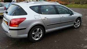 peugeot estate cars peugeot 407 sw silver 2 0l petrol estate 56000 miles only and in exc