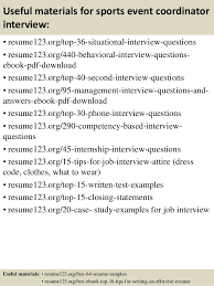 Sample Resume Event Coordinator by Top 8 Sports Event Coordinator Resume Samples