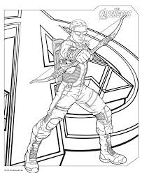 avengers coloring pages hawkeye coloringstar