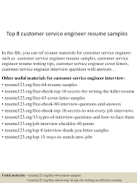 Resume Examples For Customer Service by Customer Service Engineer Resume Resume For Your Job Application
