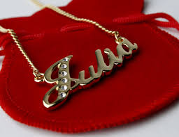 name plated necklace 18 karat gold plated name necklace