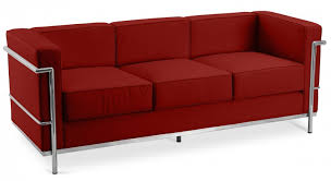 canapé le corbusier lc2 canapé cuir premium bordeaux 3 places inspiré lc2 le corbusier