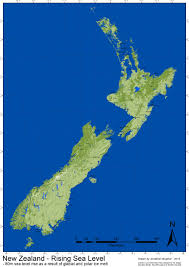 New Zealand And Australia Map Nz Sea Level Rise