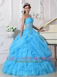 aqua blue quinceanera dresses blue gown strapless floor length organza beading quinceanera dress