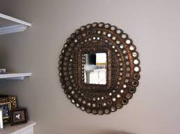 easy country foyer decorating ideas mirror hook and space saving