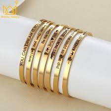 Customized Name Bracelets Online Shop High Quality Gold Silver Bar Armband Custom Engraved