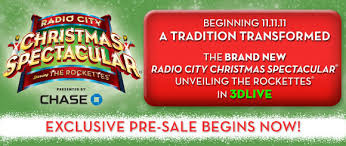 pre sale ticket offer for the radio city spectacular