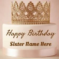write name on strawberry birthday cake pictures for sister picture