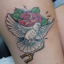 dove and rose tattoo best tattoo ideas gallery