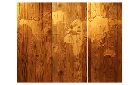 World Map On Wood Planks by Manually Engraved Antique Pine Wall Picture World Map
