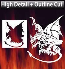 air brush stencil gargoyle template dragon outline cutout