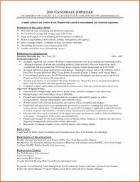 event planner resume event coordinator contract sle 45 sle resume for career