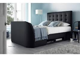 kaydian barnard faux leather ottoman multimedia bed frame tv