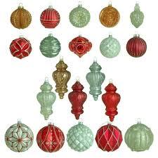 martha stewart living winter tidings glass ornament 20 count