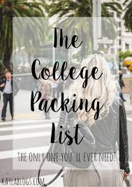 College Toiletries Checklist The Ultimate College Packing List Kayla Blogs