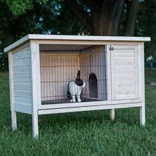 Large Rabbit Hutch With Run Rabbit Cages U0026 Hutches Hayneedle