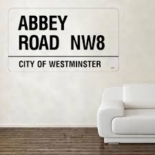 street names decal wall stickers shop home abbey road decal wall sticker
