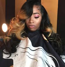 pictures of black ombre body wave curls bob hairstyles side part curly ombre sewin weave styles pinterest curly