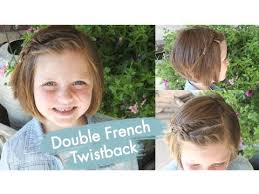 hairstyles for short hair cute girl hairstyles double french twistback short hair cute girls hairstyles youtube