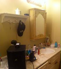 before after pam s budget bathroom makeover thrift diving blog before