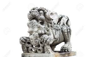 foo dog sculpture foo dog statue guardian sculpture in thailand isolated