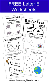 letter e free alphabet worksheets for kids roaming rosie