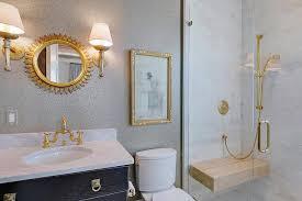 gold deck mount cross handle bathroom faucet design ideas