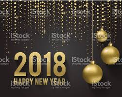 Happy New Year Invitation Greeting Card Invitation With Happy New Year 2018 And Christmas