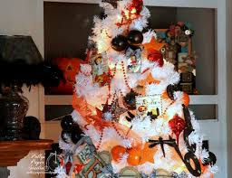 decorated halloween trees 2015 halloween house tour polly u0027s paper studio