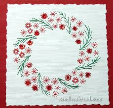 embroidered christmas embroider your christmas cards needlenthread