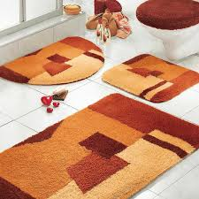 Orange Area Rug With White Swirls Bathroom Entrancing Austin Bathroom Rug Sets With Multicolor