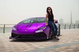 lamborghini huracan lamborghini huracan in the hands of a woman in dubai it s purple