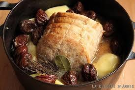 comment cuisiner roti de porc recette rôti de porc aux pruneaux la cuisine familiale un plat