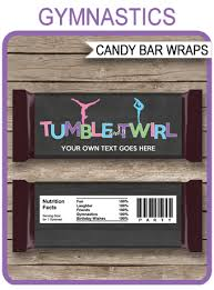 gymnastics hershey candy bar wrappers personalized candy bars