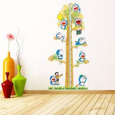 aliexpress com buy 2pcs doraemon creative diy kids height chart
