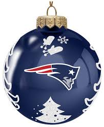 memory company new patriots glass tree ornament