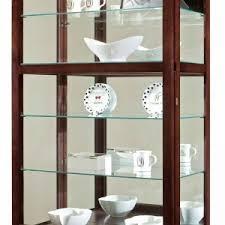 decorating attractive corner curio cabinet for interior furniture