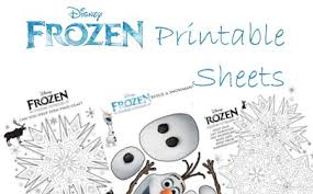 free disney u0027s frozen printable activity sheets