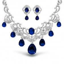 blue sapphire necklace sets images September birthstone jewelry cz sapphire rings earrings other jpg