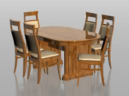 6 seater dining table and chairs 6 seater dining set 3d model 3dsmax files free download modeling