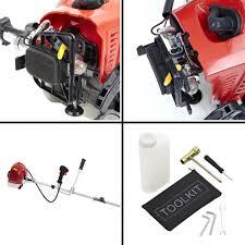 trueshopping 62cc petrol strimmer brush cutter pro garden tool