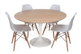 replica tulip table with oak wood top 120cm replica tables