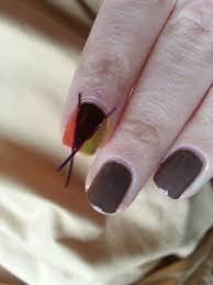 easy thanksgiving nail tutorial nood mood