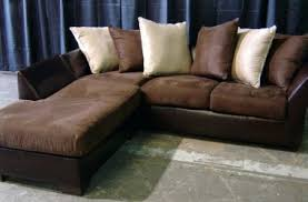 Sofa Leather And Fabric Combined by Ashley Leather Sofa And Loveseat Brown With Fabric Cushions Rooms