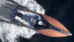 weird lexus logo lexus launches a stunning and speedy 42 foot sport yacht boating