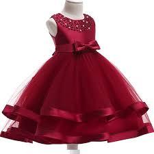 2018 Summer girls Elegant christmas dress Kids Party Dresses Formal