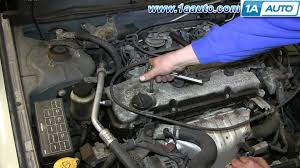 Nissan Altima 1994 - how to install remove engine spark plugs nissan altima 2 4l youtube