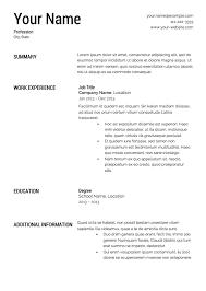 resume templates free for word printable resume templates word galimol com